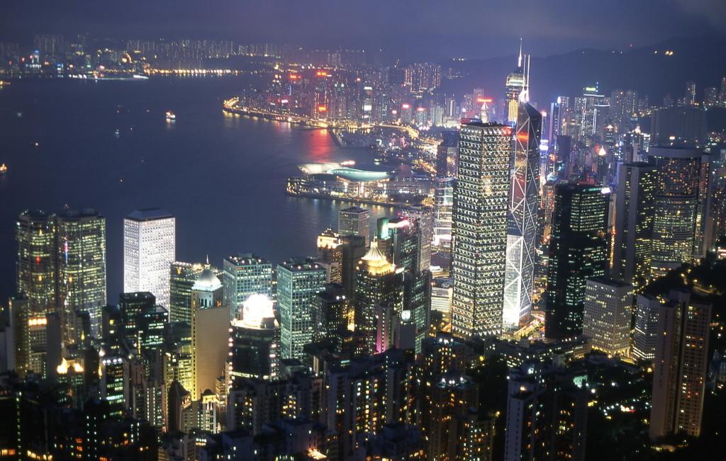 2002_05 Hong Kong avond vanaf Victoria Hill 2-1800pix