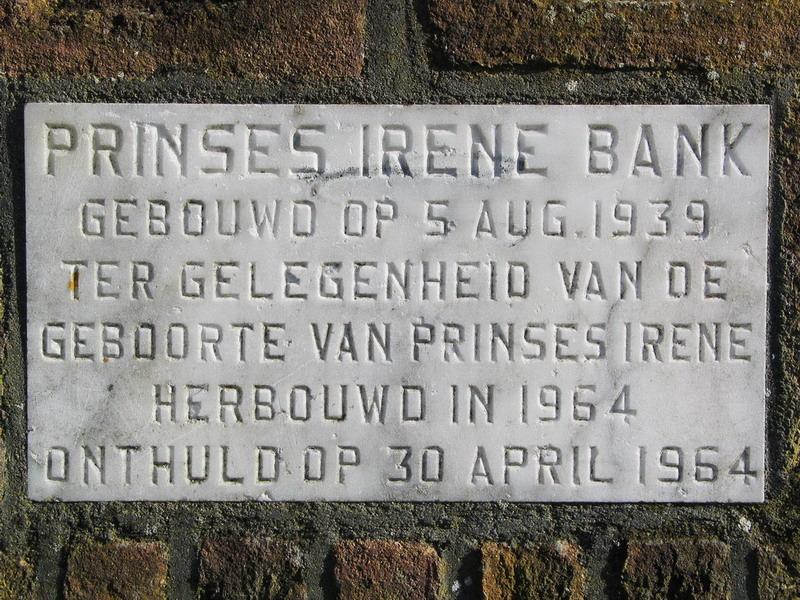 Irenebank Wilnis - plaquette 1964