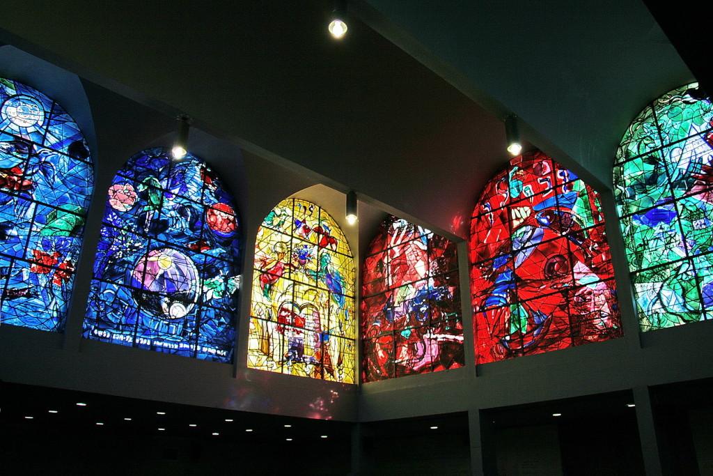 Jeruzalem - Hadassah Hospitaal - Chagall ramen