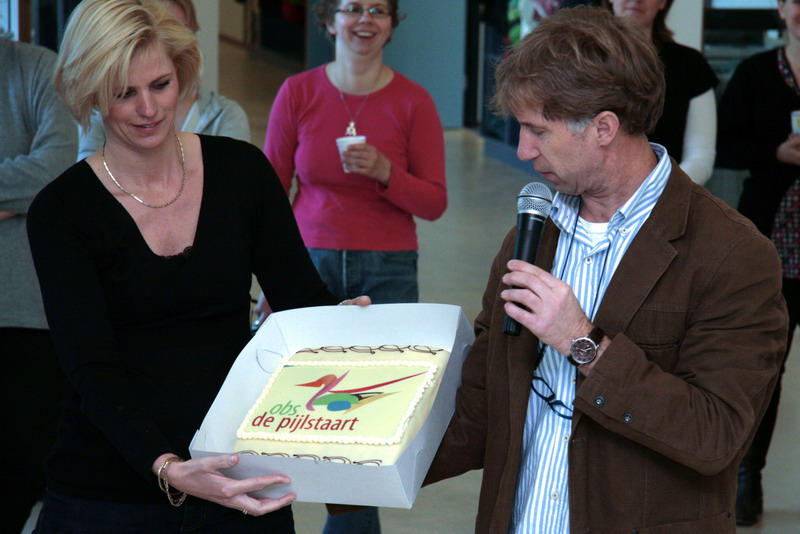 Pijlstaart-Ramon Otting-09-feest taart 4 maart 2008