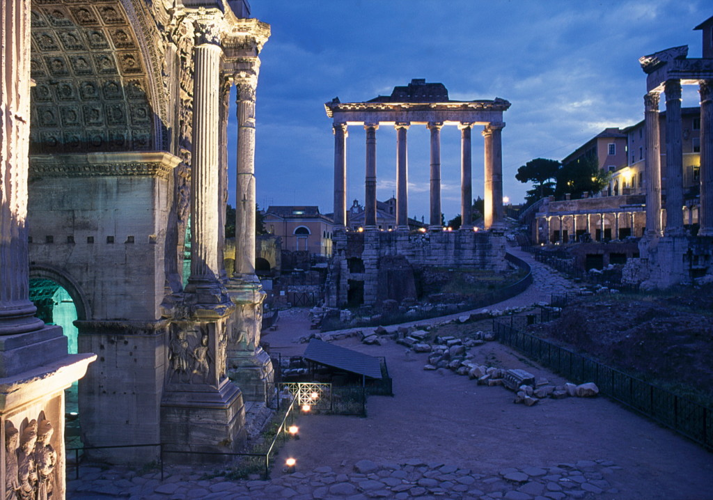 Rome, Forum Romano, Saturnus tempel-A4 _resize- dia Henk Butink