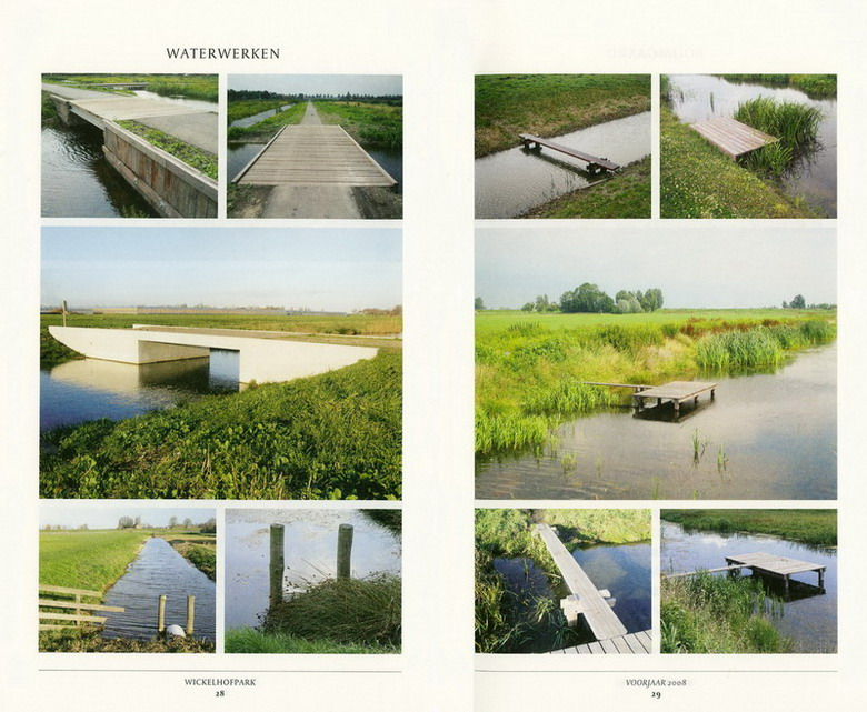 """Scans van pagina's boekje """"Wickelhofpark, de polder als park"""""""