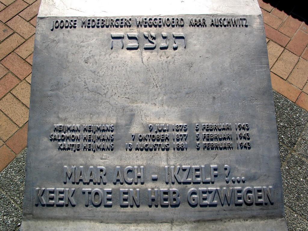 Mijdrecht Gedenktafels - joden -1800pix Foto Henk Butink