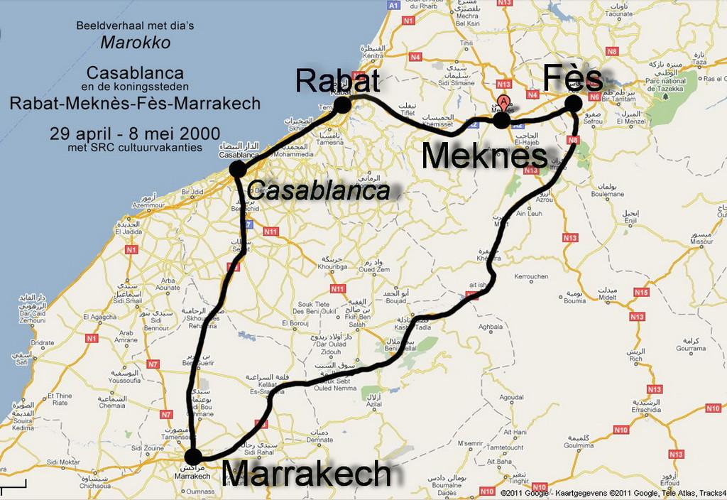 Marokko Koningsstedenreis 29 april-8 mei 2000