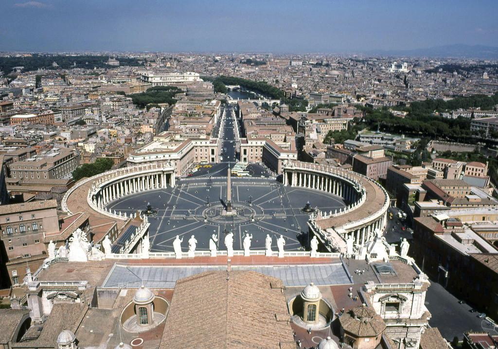 1988-08 Rome St Pieter - panorama vanaf koepel-1700pix- dia Henk Butink