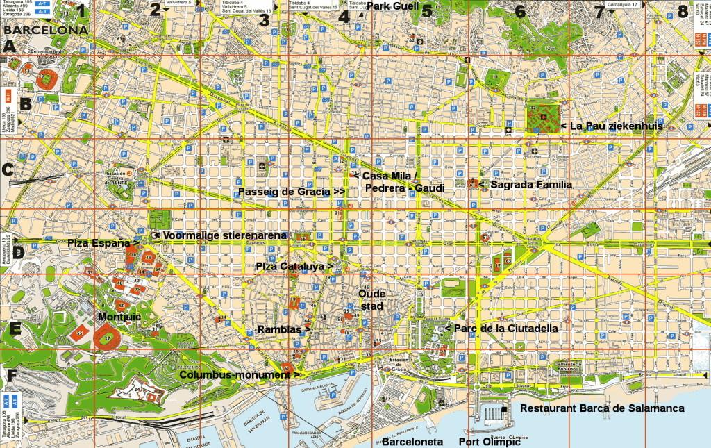 BCN kaart met aantekeningen HB