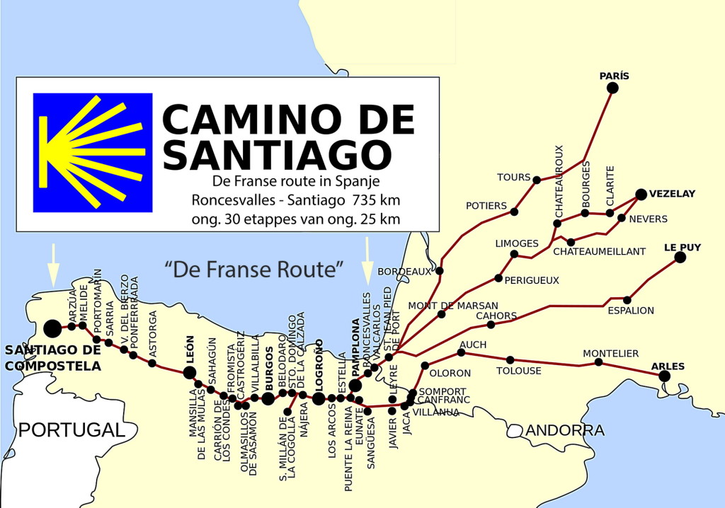 Camino de Santiago- de Franse route_1800pix
