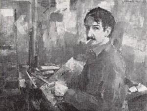 Jan Groenestein (1919-1971) zelfportret 1959.