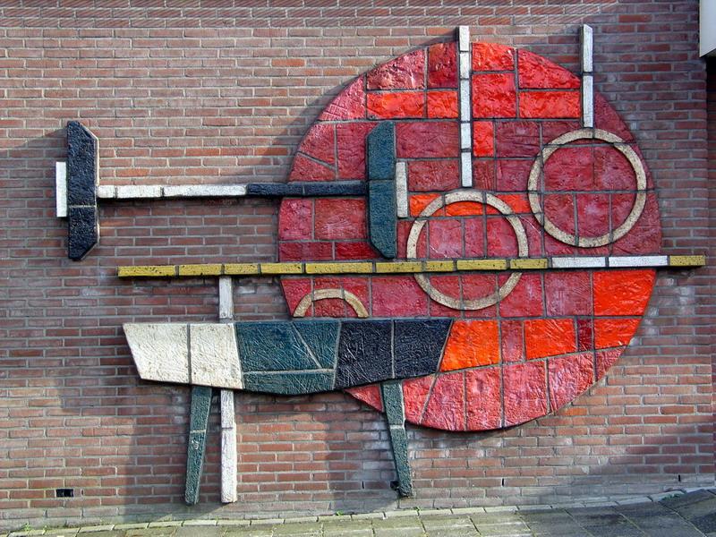 Keramische wanddecoratie 1-Herm Driessen-1
