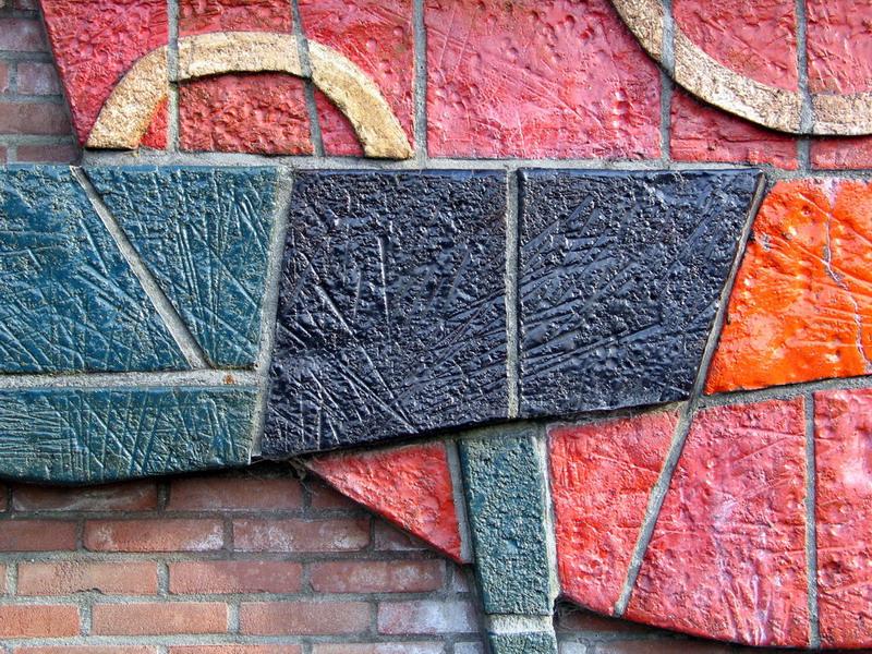 Keramische wanddecoratie 3-Herm Driessen-detail