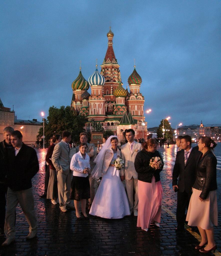 Moskou - Het Rode Plein bij avond- foto ©2008 Henk Butink