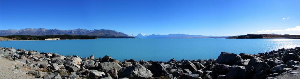NZ-Zuideiland, Lake Pukaki met Mt. Cook (3764m) - foto HB