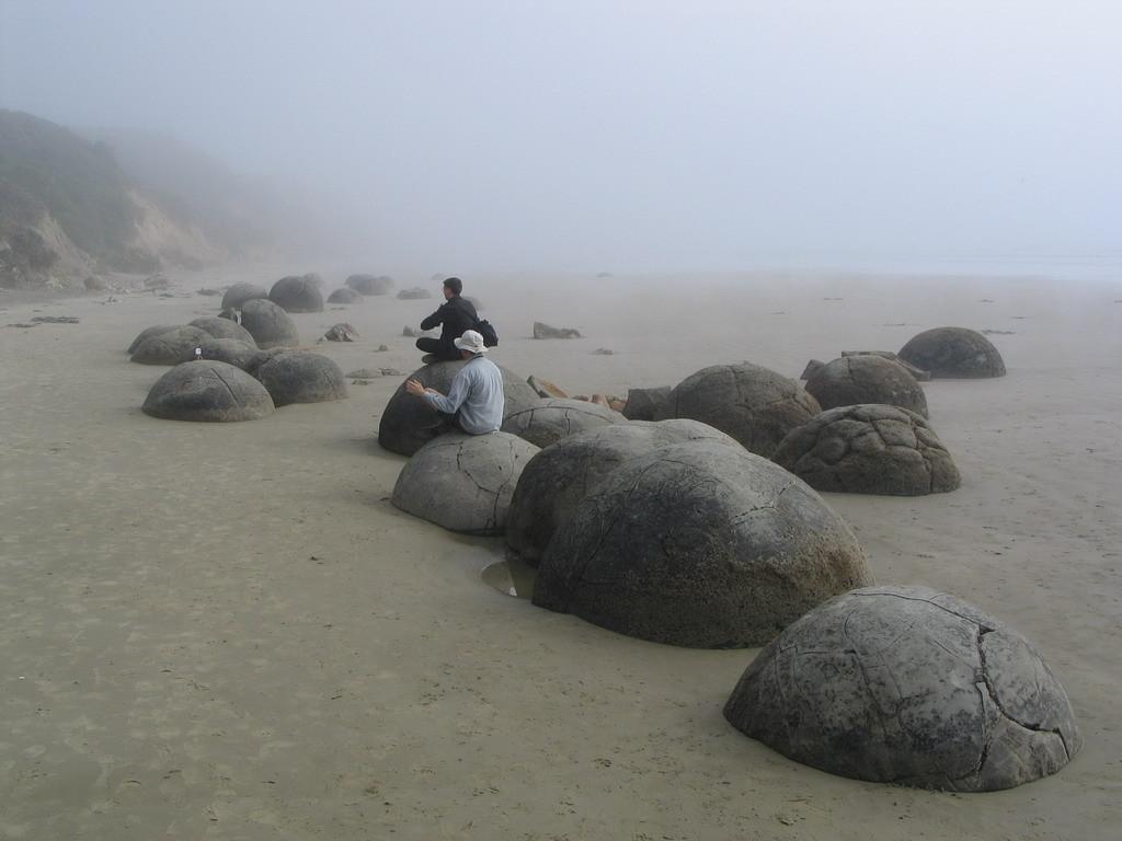 NZ-Zuideiland, Mouraki boulders - foto HB