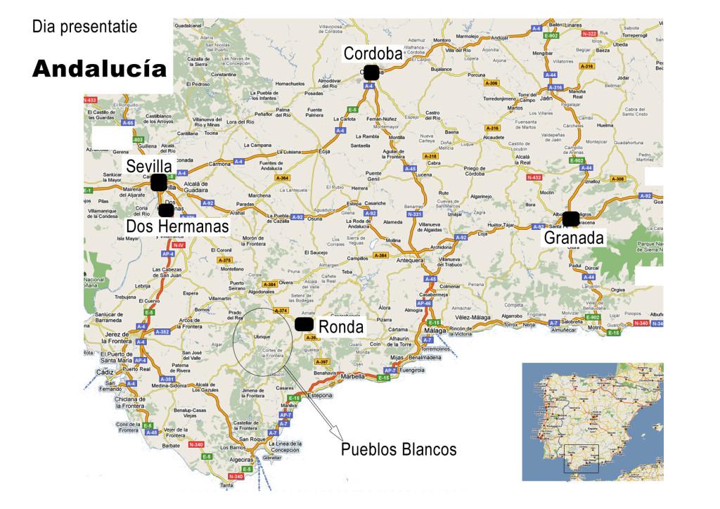 kaartje andalucia- diapresentatie